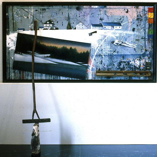 Meditations on the Origins of Agriculture in America 48x96x24 Mixed media © 1987