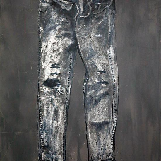 Painters Pants, polymer on canvas 60x36